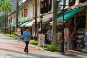 Clean and colorful streets of Singapore