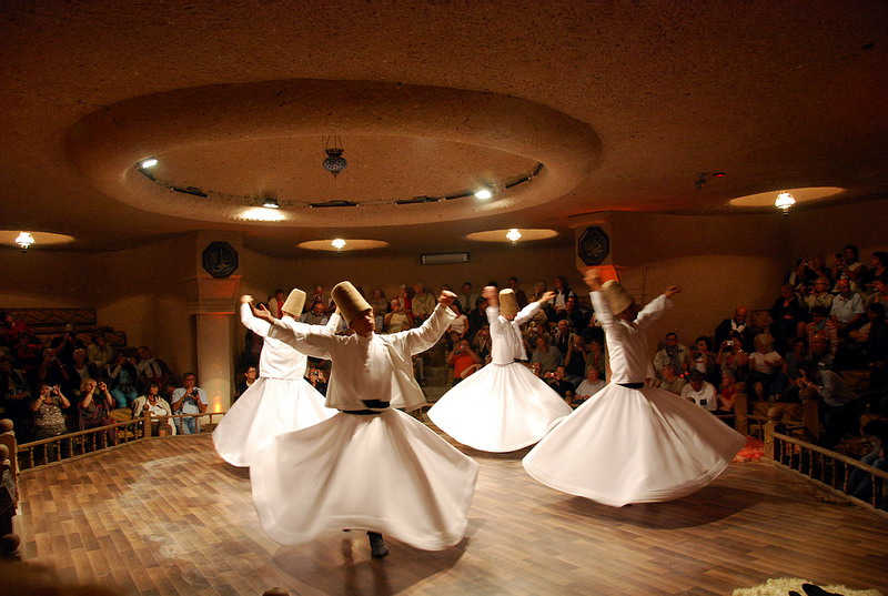 Whirling Dervishes During Their Ritual